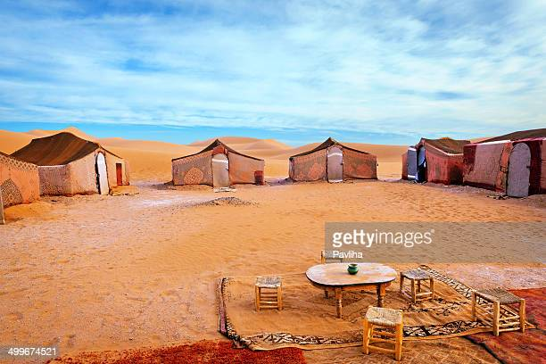 Carpet tents at Berber Camp in Erg Chigaga, Morocco