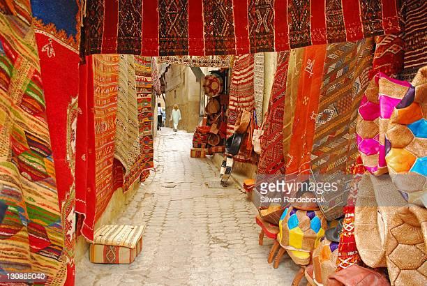 Carpet trader in the Medina of Fez Morocco