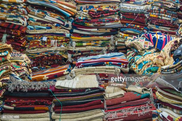 carpets, tentmakers' street, cairo, egypt - egyptian culture stock photos and pictures