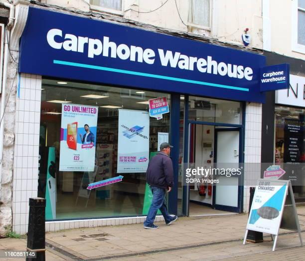 Carphone Warehouse store seen on the high street in Devon