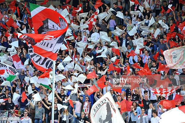 Carpi's supporters during the Serie A football match between FC Carpi and SS Lazio at Braglia Stadium in Modena Lazio beat by 3 to 1 on Carpi at the...