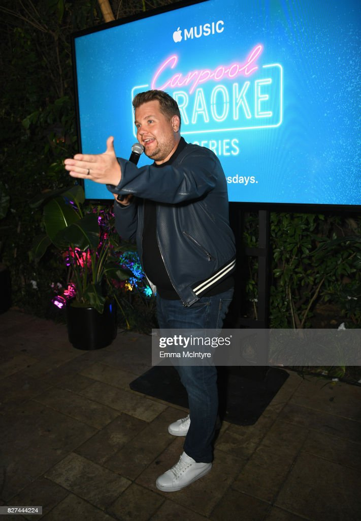 Carpool Karaoke Series Executive Producer James Corden speaks at Apple Music Launch Party Carpool Karaoke: The Series with James Corden on August 7, 2017 in West Hollywood, California.