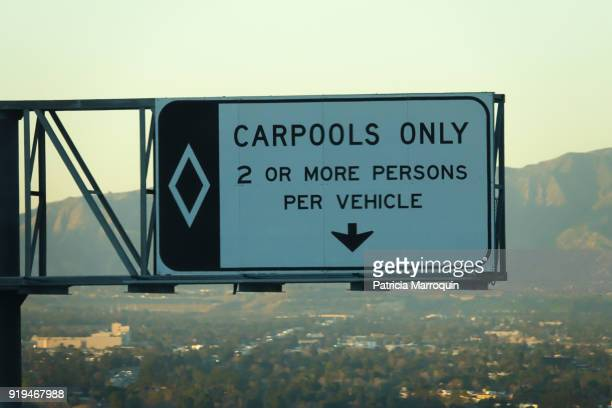 carpool lane - car pooling stock photos and pictures