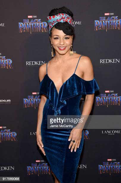 Carra Patterson attends the Marvel Studios Black Panther Welcome to Wakanda New York Fashion Week Showcase at Industria Studios on February 12 2018...