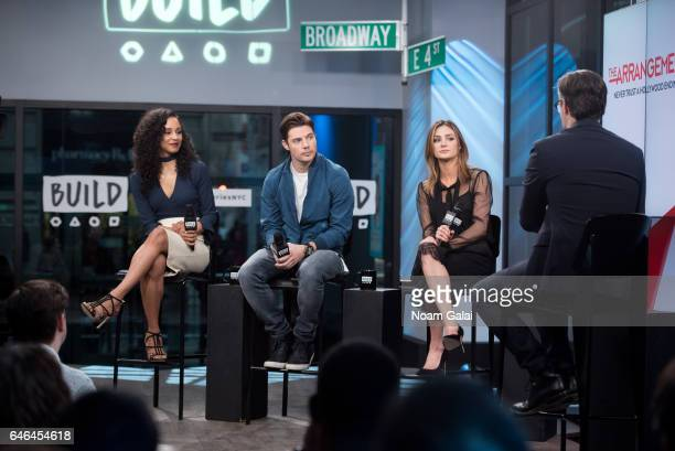 Carra Patterson Josh Henderson and Christine Evangelista visit Build Series to discuss 'The Arrangement' at Build Studio on February 28 2017 in New...