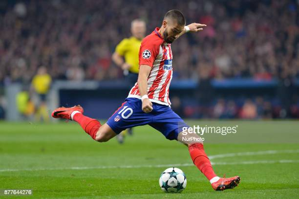 Carrasco of Atletico de Madrid during the UEFA Champions League group C match between Atletico Madrid and AS Roma at Estadio Wanda Metropolitano on...
