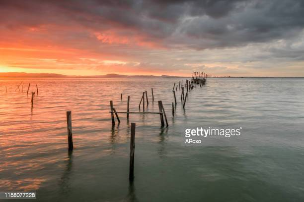 carrasqueira is a tourist destination for visitors to the coast of alentejo near lisbon. of - comporta portugal stock photos and pictures
