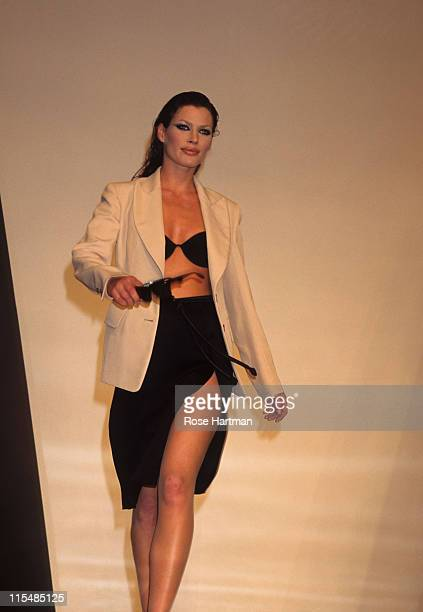 Carre Otis during Donna Karan Runway Show circa 1994 in New York City New York United States