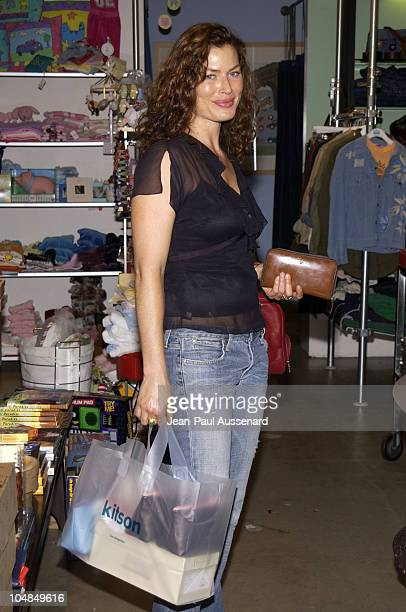 Carre Otis during MYTEE and KITSON Host a Private TShirt Decorating and Shopping Party to Benefit Kelly and Sharon Stone's PLANET HOPE at KITSON in...