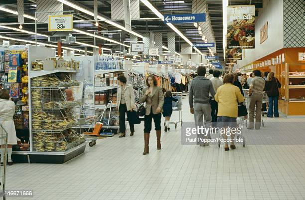 A Carrefour hypermarket in Bristol UK circa 1975