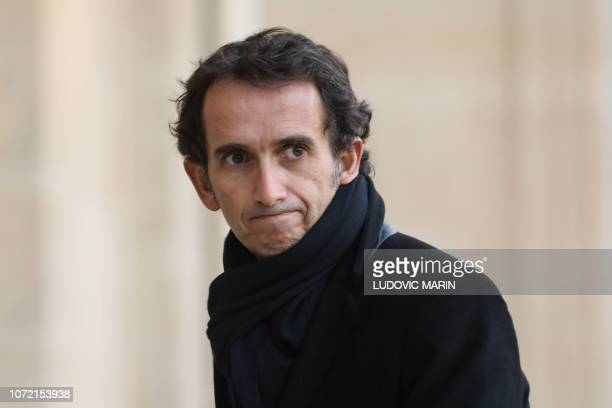 Carrefour's CEO Alexandre Bompard arrives for a meeting with the French President at the Elysee Palace on December 12 2018 French President meets...