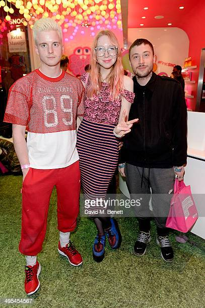 Carri Munden and Bobby Abley at the launch of #FirstSNOG a tribute to gay equality charity Stonewall at the SNOG Frozen Yogurt store in Soho on June...