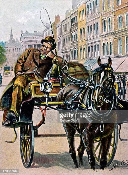 Carriage driver waiting for a fare, London. C. 1909.