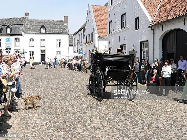 Carriage parade in the village