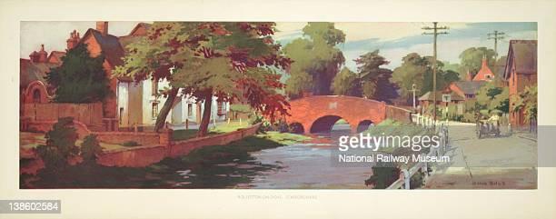 Carriage print British Railways RollestononDove Staffordshire by Ellis Silas