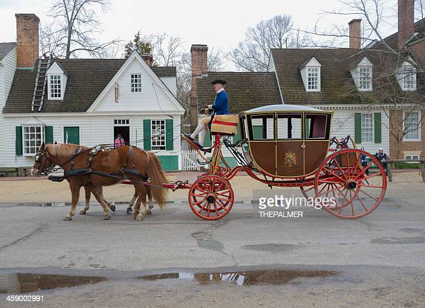 carriage ride in williamsburg virginia - williamsburg virginia stock pictures, royalty-free photos & images