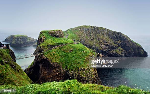 CONTENT] CarrickaRede Rope Bridge is a rope suspension bridge near Ballintoy County Antrim Northern Ireland The bridge links the mainland to the tiny...