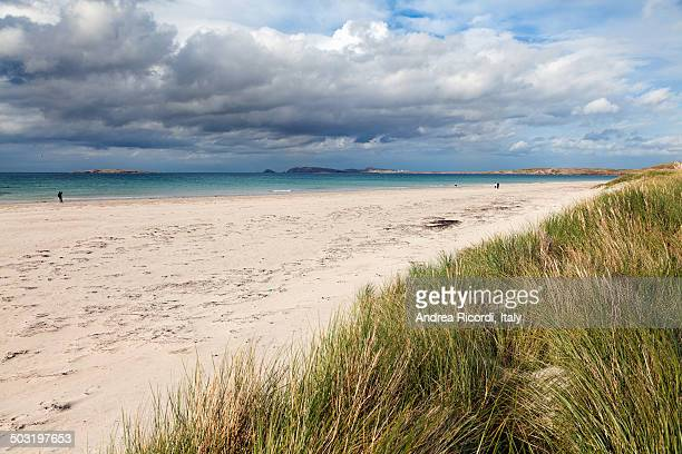 carrickfinn sandy beach, ireland - county donegal stock photos and pictures