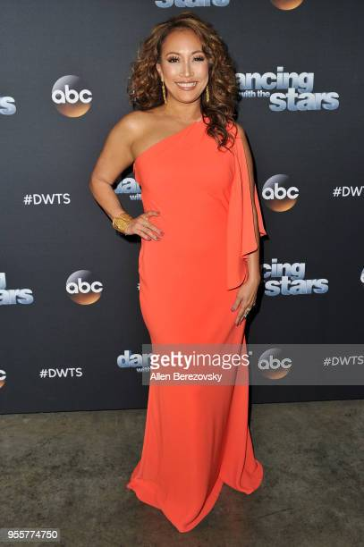 Carrie Ann Inaba arrives at ABC's Dancing With The Stars Athletes Season 26 show on May 7 2018 in Los Angeles California