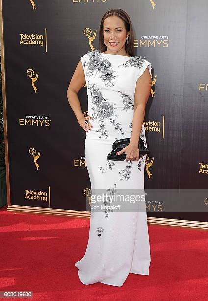Carrie Ann Inaba arrives at the 2016 Creative Arts Emmy Awards at Microsoft Theater on September 11 2016 in Los Angeles California