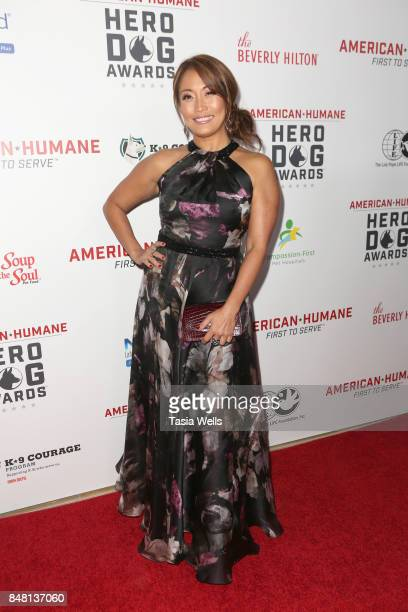 Carrie Ann Inaba at the 7th Annual American Humane Association Hero Dog Awards at The Beverly Hilton Hotel on September 16 2017 in Beverly Hills...