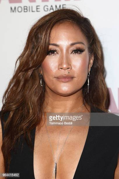 Carrie Ann Inaba attends the Tyra Banks And Ace King Productions Celebrate The Release Of The America's Next Top Model Mobile Game at Avalon on May 3...