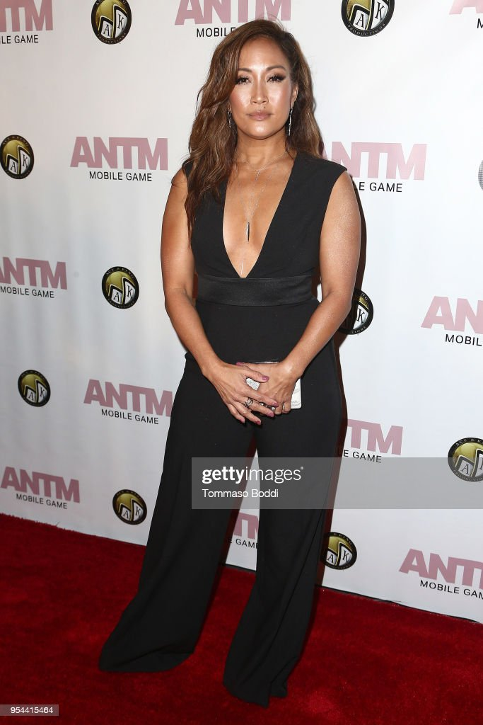 Carrie Ann Inaba attends the Tyra Banks And Ace King Productions Celebrate The Release Of The 'America's Next Top Model' Mobile Game at Avalon on May 3, 2018 in Hollywood, California.