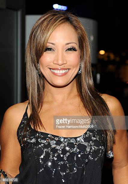 Carrie Ann Inaba backstage at the 2009 American Music Awards at Nokia Theatre LA Live on November 22 2009 in Los Angeles California