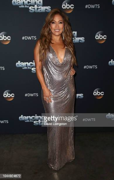 Carrie Ann Inaba poses at Dancing with the Stars Season 27 at CBS Televison City on October 2 2018 in Los Angeles California