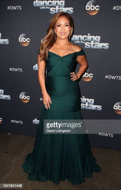 Carrie Ann Inaba poses at 'Dancing with the Stars' Season 27 at CBS Televison City on October 8 2018 in Los Angeles California