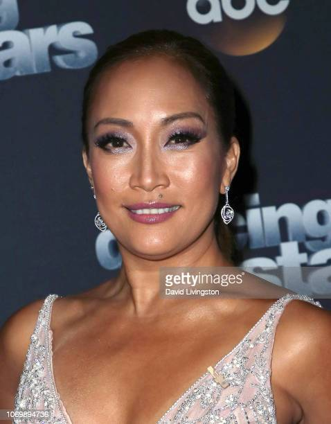 Carrie Ann Inaba poses at Dancing with the Stars Season 27 Finale at CBS Television City on November 19 2018 in Los Angeles California