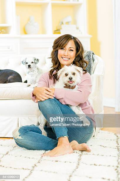 Carrie Ann Inaba with Lola Buddy and Peanut