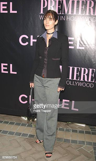 Carrie Ann Moss arriving at Premiere Magazine's Women in Hollywood luncheon