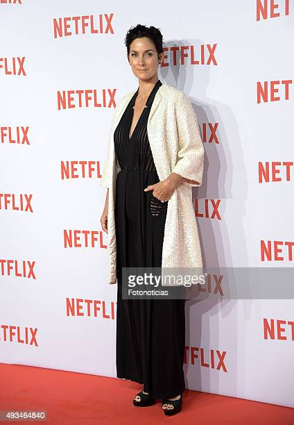 Carrie Ann Moss attends the red carpet of Netflix presentation at the Matadero Cultural Center on October 20 2015 in Madrid Spain