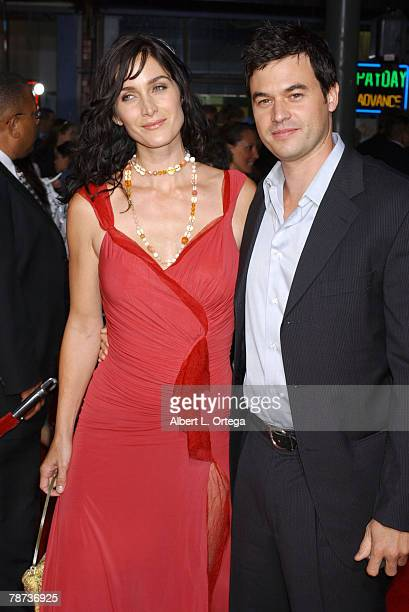 Carrie Anne Moss and husband Steven Roy