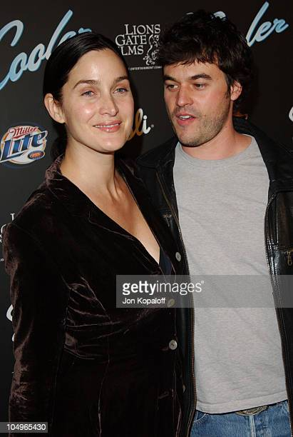 "Carrie- Anne Moss and Steven Roy during ""The Cooler"" - Los Angeles Premiere at The Egyptian Theater in Hollywood, California, United States."