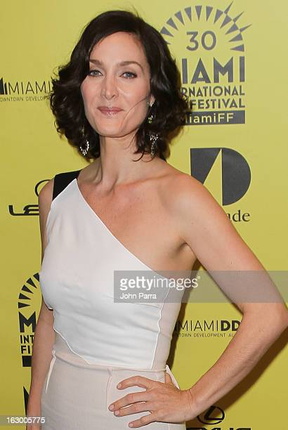 Carrie Anne Moss attends The Boy Who Smells Like Fish screening during the Miami International Film Festival at Gusman Center for the Performing Arts...