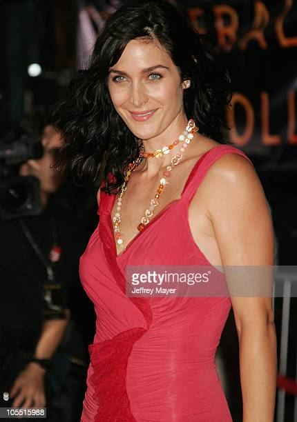 Carrie Anne Moss during 'Collateral' Los Angeles Premiere Arrivals at Orpheum Theatre in Los Angeles California United States