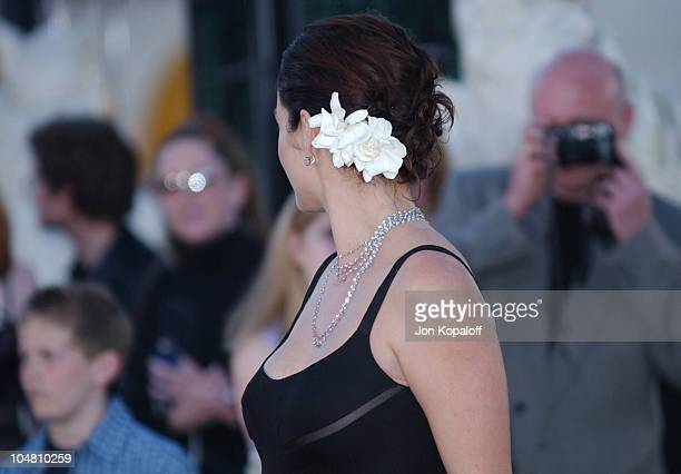 Carrie Anne Moss during The Matrix Reloaded Premiere Arrivals at The Mann Village Theater in Westwood California United States