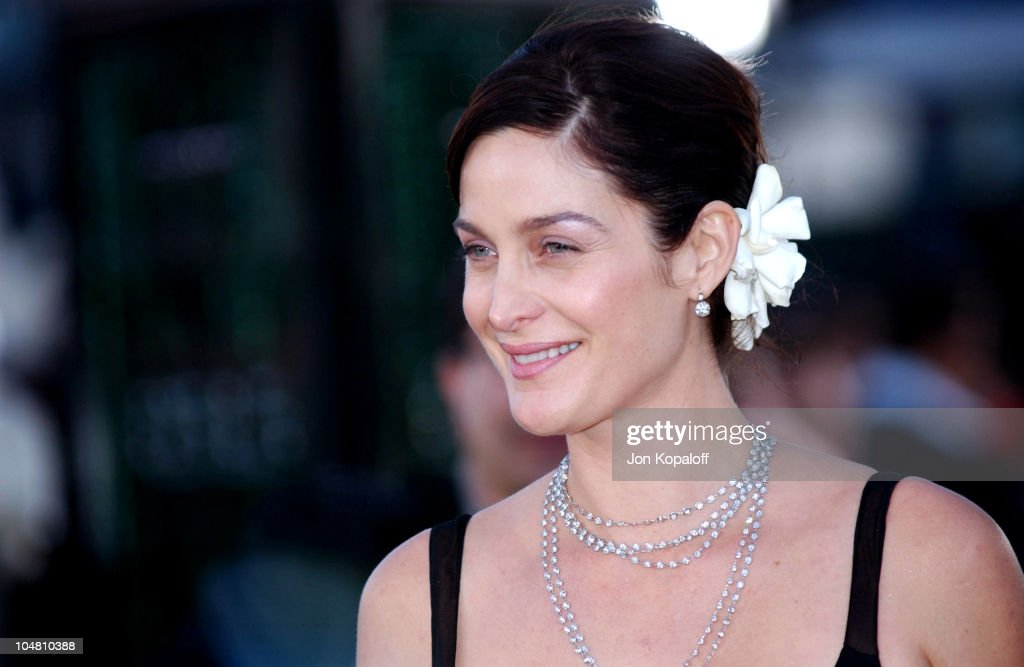 Carrie Anne Moss during 'The Matrix Reloaded' Premiere - Arrivals at The Mann Village Theater in Westwood, California, United States.