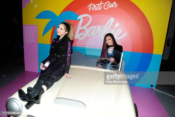 Carrie Berk and Taylor Felt attend Barbie's 60th Anniversary at 505 Broadway on March 8 2019 in New York City