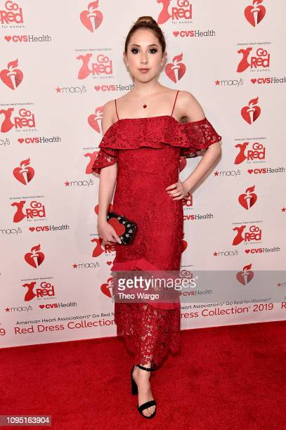 Carrie Berk attends The American Heart Association's Go Red For Women Red Dress Collection 2019 Presented By Macy's at Hammerstein Ballroom on...