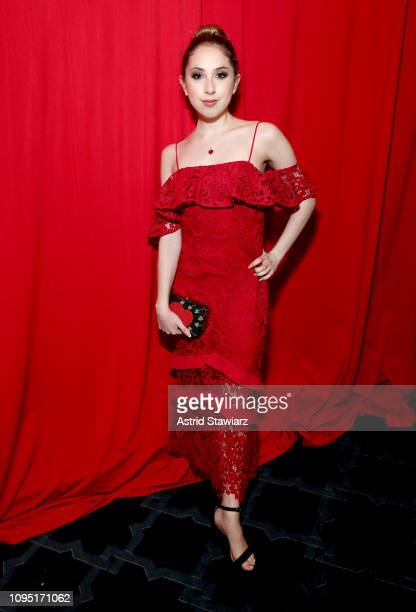Carrie Berk poses backstage during The American Heart Association's Go Red for Women Red Dress Collection 2019 at Hammerstein Ballroom on February 7...