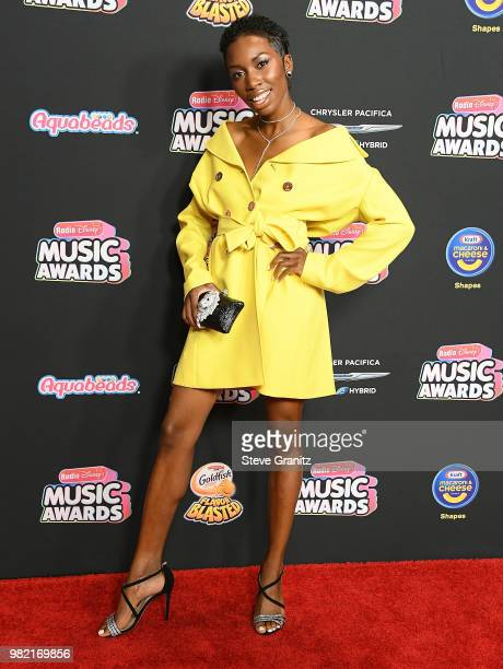 Carrie Bernans arrives at the 2018 Radio Disney Music Awards at Loews Hollywood Hotel on June 22 2018 in Hollywood California