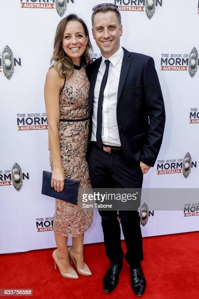 Carrie Bickmore and Chris Walker arrives ahead of The Book of Mormon opening night at Princess Theatre on February 4 2017 in Melbourne Australia