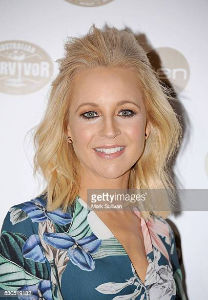 Carrie Bickmore arrives ahead of the Australian Survivor Launch Party on May 11 2016 in Sydney Australia