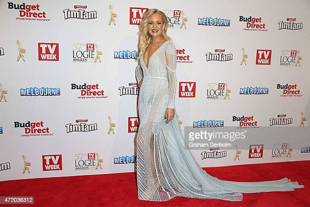 Carrie Bickmore arrives at the 57th Annual Logie Awards at Crown Palladium on May 3 2015 in Melbourne Australia