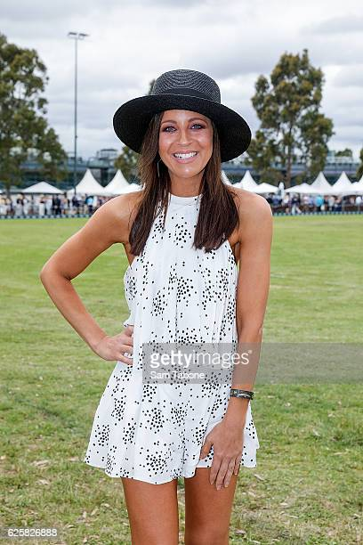 Carrie Bickmore attends the Land Rover Polo in The City at Albert Park on November 26 2016 in Melbourne Australia