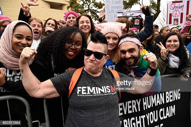 Carrie Black attends the rally at the Women's March on Washington on January 21, 2017 in Washington, DC.
