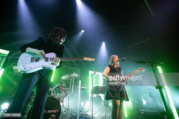 Carrie Brownstein and Corin Tucker of Sleater Kinney perform at Vicar Street on March 01 2020 in Dublin Ireland